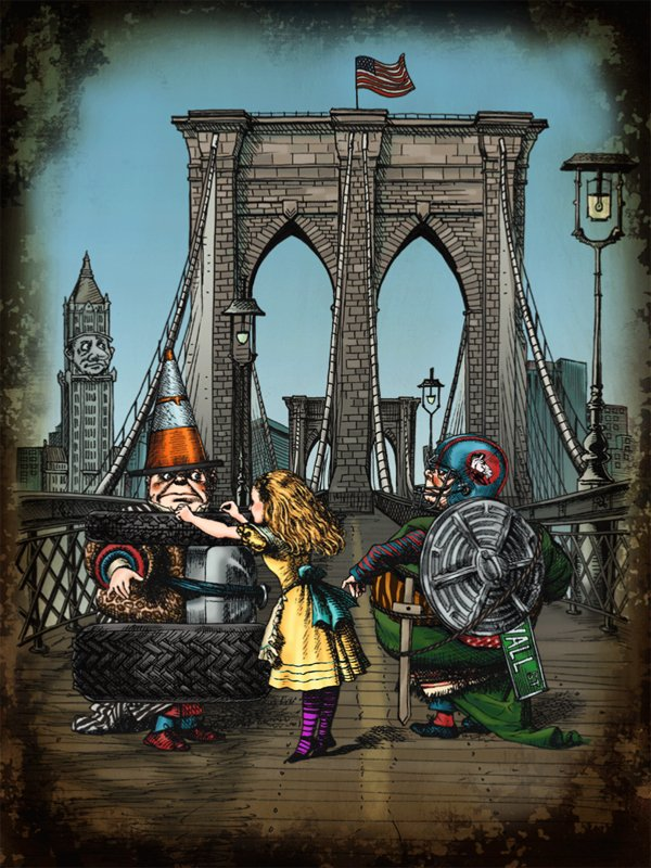 Petra Kneile - Alice in NY Brooklyn Bridge